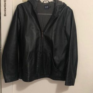 Real Leather Hoodie size M Gap good condition